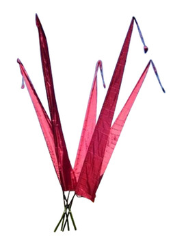 Balifahnen-Stoff NUSA DUA mit Rauten-Spitze, verschiedene Farben und Längen, Balifahne, Bali Flag, Gartenfahnen – Bild 6