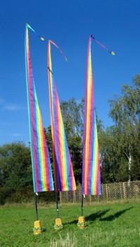 Balifahnen-Stoff NUSA DUA mit Rauten-Spitze, verschiedene Farben und Längen, Balifahne, Bali Flag, Gartenfahnen – Bild 15