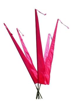 Gartenfahnen-Stoff DENPASAR mit Herz-Spitze, DEKOVALENZ, verschiedene Farben und Längen, Balifahne, Bali Flag – Bild 13