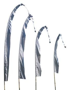 Balifahnen-Stoff SANUR mit herzförmiger Spitze, verschiedene Farben und Längen, Balifahne, Bali Flag, Gartenfahnen – Bild 3
