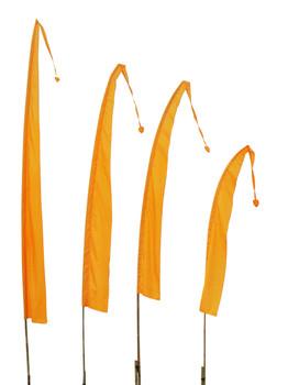 Balifahnen-Stoff SANUR mit herzförmiger Spitze, verschiedene Farben und Längen, Balifahne, Bali Flag, Gartenfahnen – Bild 6