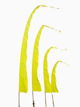 Balifahnen-Stoff SANUR mit herzförmiger Spitze, verschiedene Farben und Längen, Balifahne, Bali Flag, Gartenfahnen – Bild 7