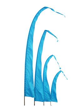 Balifahnen-Stoff SANUR mit herzförmiger Spitze, verschiedene Farben und Längen, Balifahne, Bali Flag, Gartenfahnen – Bild 13