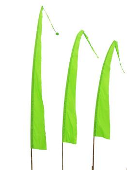 Balifahnen-Stoff SANUR mit herzförmiger Spitze, verschiedene Farben und Längen, Balifahne, Bali Flag, Gartenfahnen – Bild 15