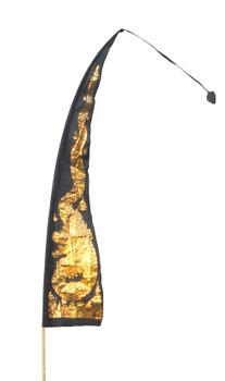 Drachenfahnen-Stoff GOLD DRAGON mit herzförmiger Spitze, verschiedene Farben und Längen, Balifahne, Bali Flag – Bild 2