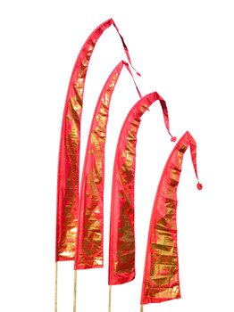 Drachenfahnen-Stoff GOLD DRAGON mit herzförmiger Spitze, verschiedene Farben und Längen, Balifahne, Bali Flag – Bild 6